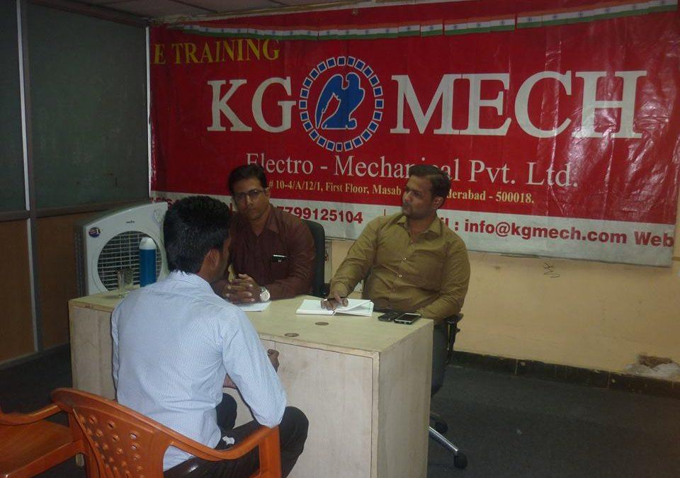CAMPUS PLACEMENTS No.1 @ KG MECH Electro Pvt. Ltd.